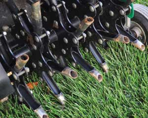 Core Aeration and Aeration guides and tips for newly sodded lawns and landscapes in the southern Twin Cities metro area from Lukes Sodding and Landscaping.