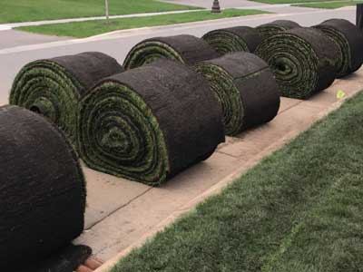 Lukes Sodding and Landscaping was one of the first in the southern Twin Cities metro area to install big roll sod, which is now the preffered method of sod installation.