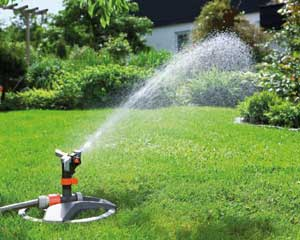 Hose and Sprinkler watering guide and tips for Big Roll sodded lawns and landscapes from Lukes Sodding and Landscaping.